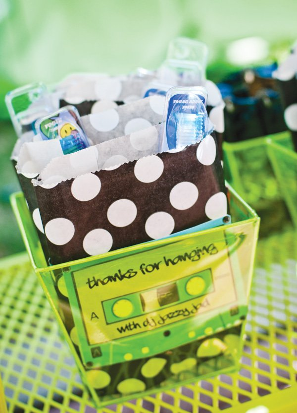 DJ Party themed party favors