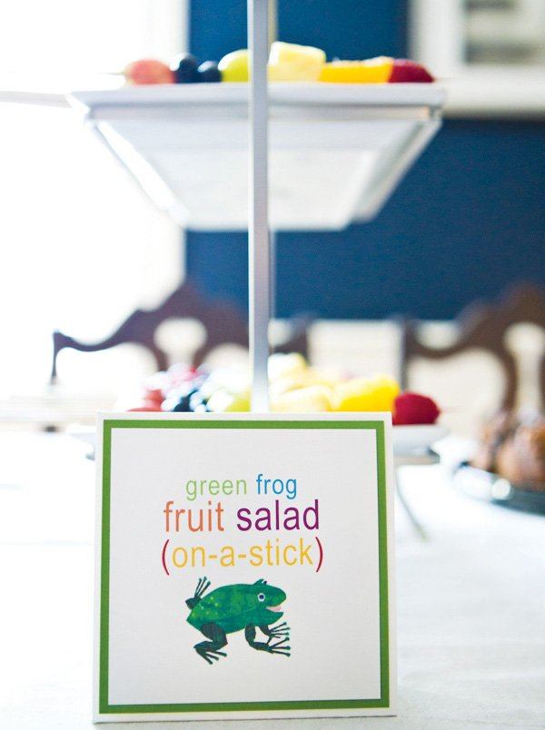 Fruit salad label