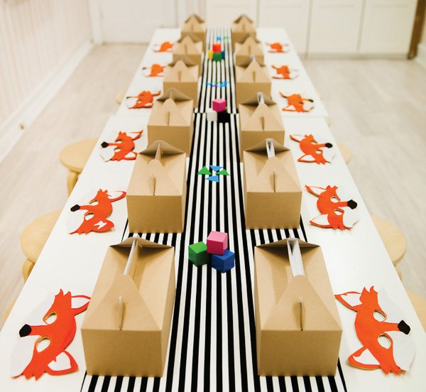 geometric fox party tablescape