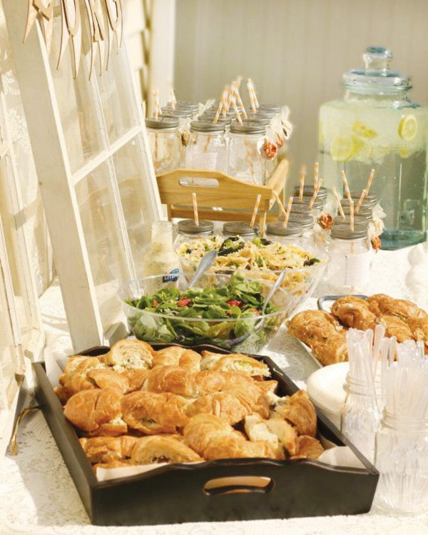 Birthday brunch table