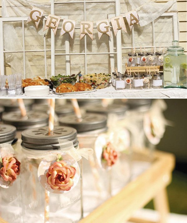 Southern Wedding Decoration Ideas: Sweet & Southern Georgia Peach Party // Hostess With The