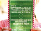 girl's soccer party stationary