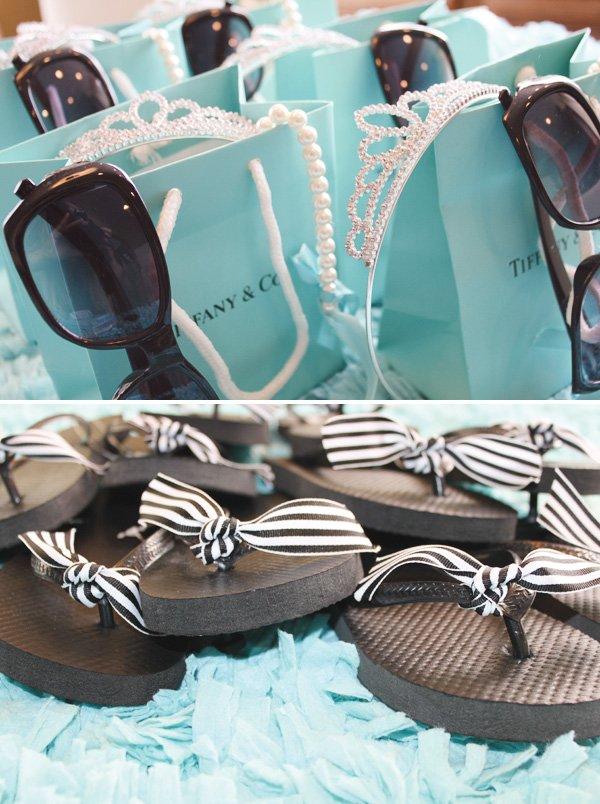 glam beach birthday flip flops