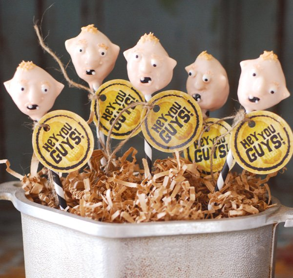 pirate themed goonies party cake pops