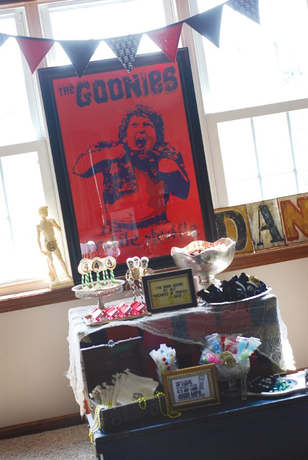 pirate themed goonies party truffle movie poster