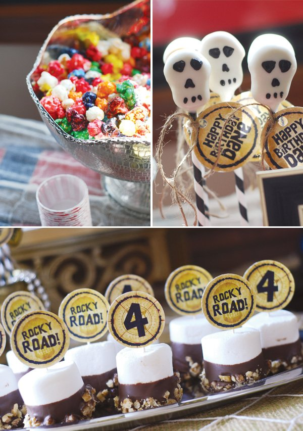 pirate themed goonies party sloth marshmallow pops