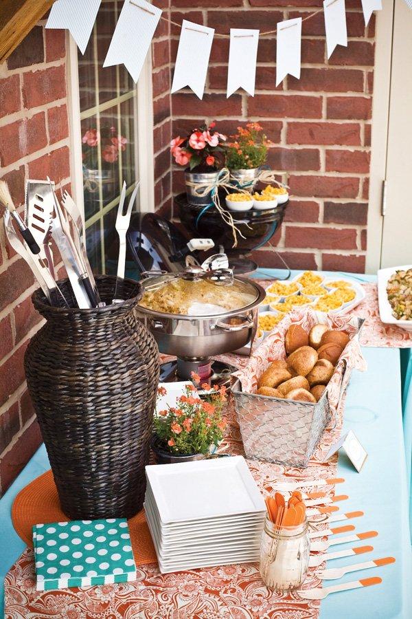 gourmet summer grilling party buffet