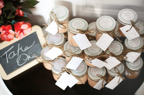 grilling party spice jar favors