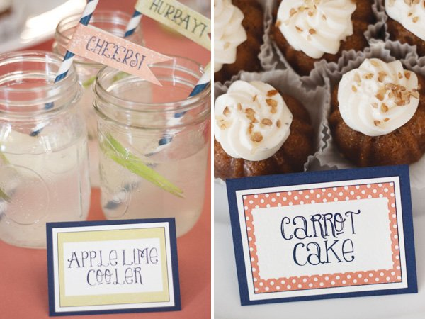 hot air balloon bridal shower drinks and food