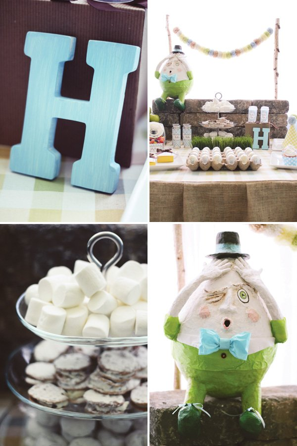modern humpty dumpty baby shower ideas