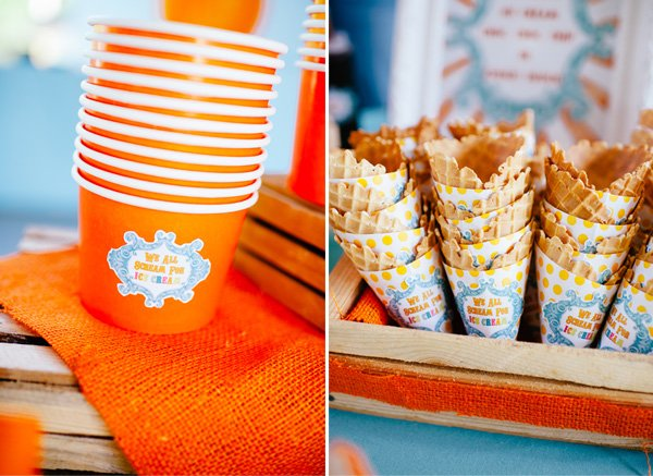 Ice Cream Party Sundae Cups and Cones