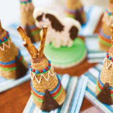 indian tee pee ice cream cones
