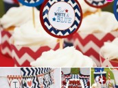 july 4th party in red white and blue