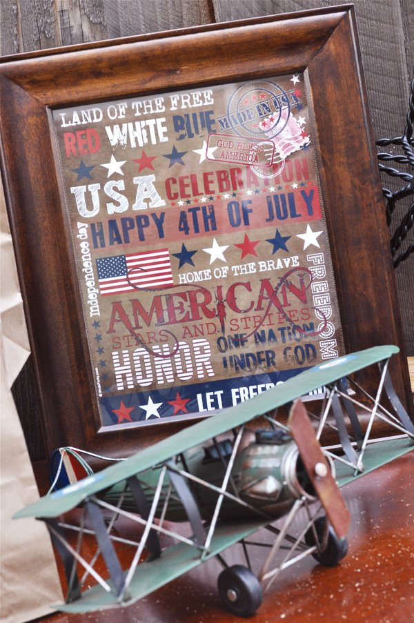 july 4th framed graphics decoration