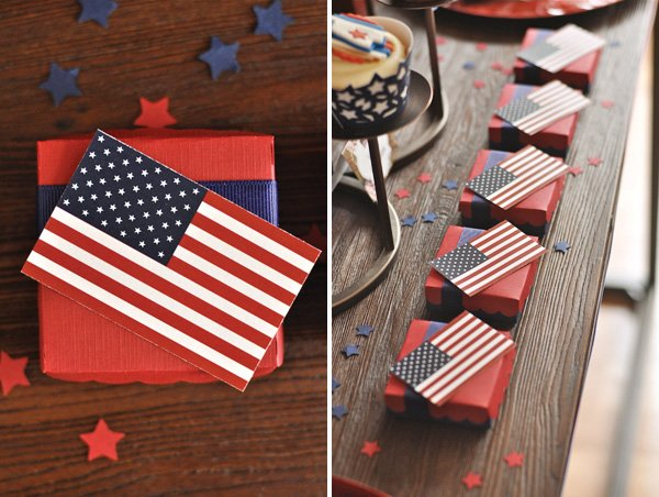july 4th american flag boxes