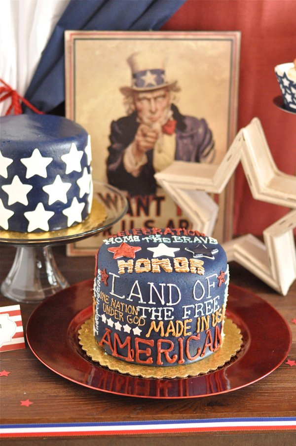 july 4th USA cake