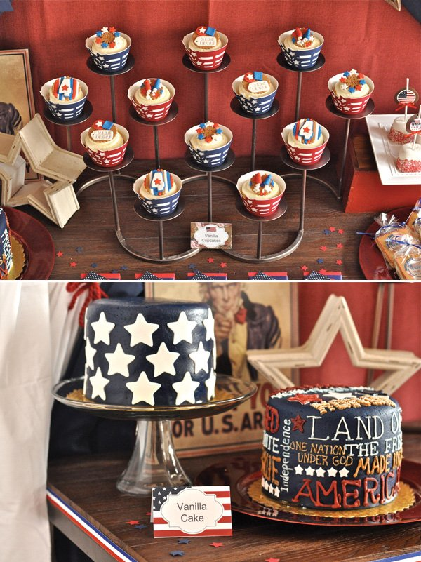 july 4th cakes with stars