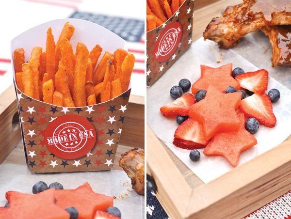 july 4th barbecue printable french fry packs