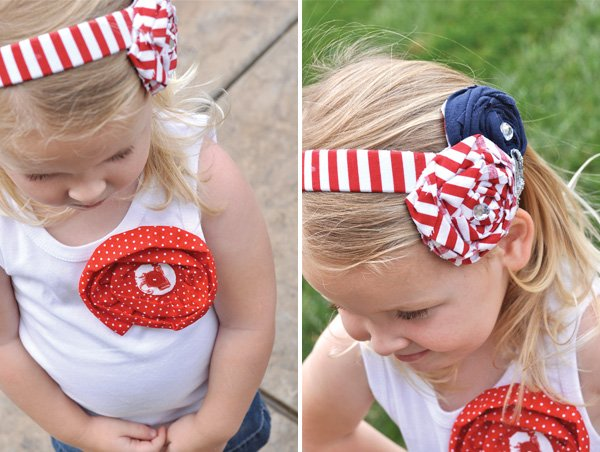 patriotic headband and outfit for 4th of july
