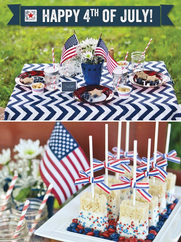 july 4th celebration with rice krispie treats