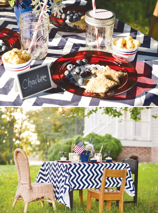 july 4th chevron kids table