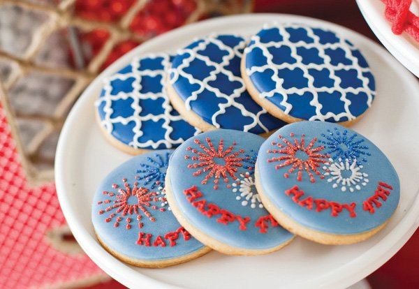 4th of july party cookies