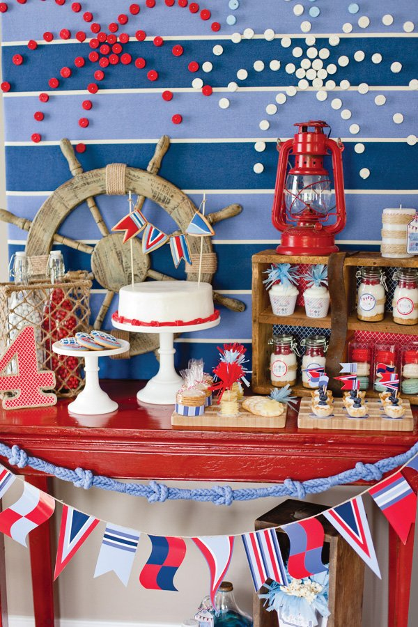 July 4th Party Printables And Dessert Table