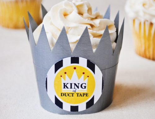 "Father's Day DIY: ""King of Duct Tape"" Treat Crowns"
