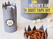 father's day ideas: king of duct tape father's day diy tutorial