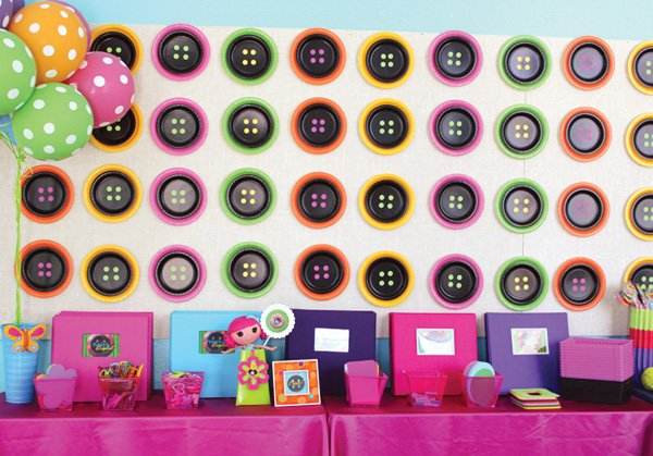 lalaloopsy button inspiration used for paper plate decor ideas