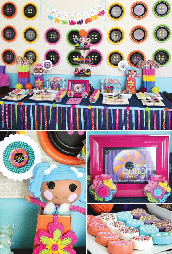 lalaloopsy party decorations with a look for less and budget friendly twist