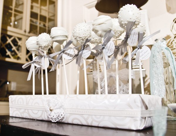 all you need is love bridal shower cake pops