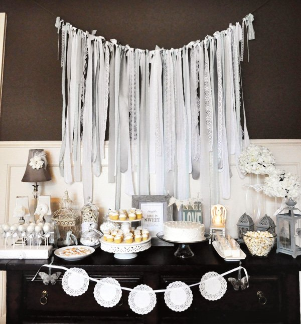 all you need is love bridal shower dessert table