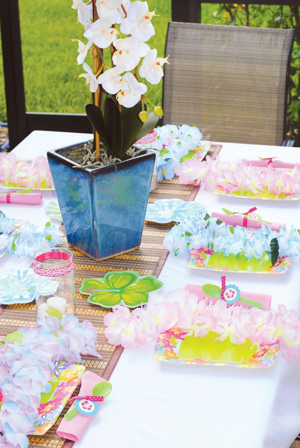 love shack anniversary party tablescape