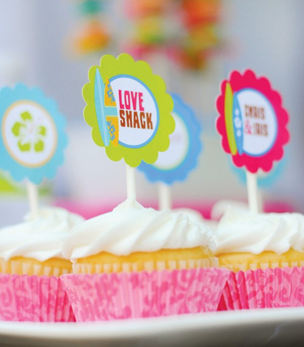 love shack cupcake toppers