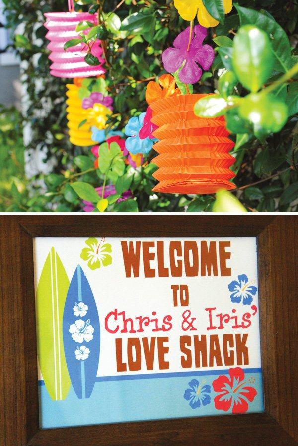 love shack luau welcome