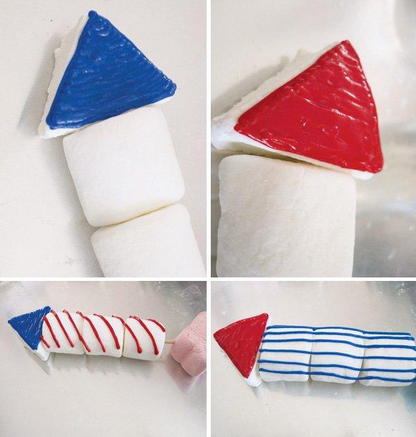firecracker marshmallow pops - 4th of july treats