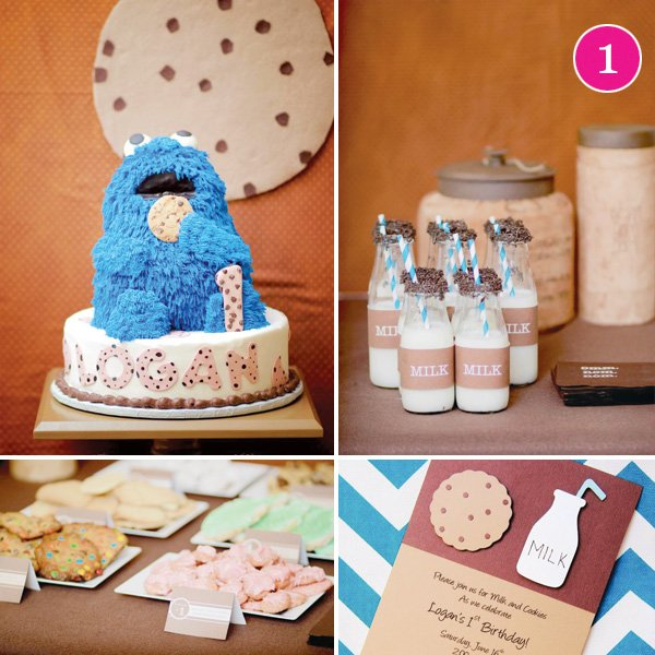 milk and cookies party with cookie monster