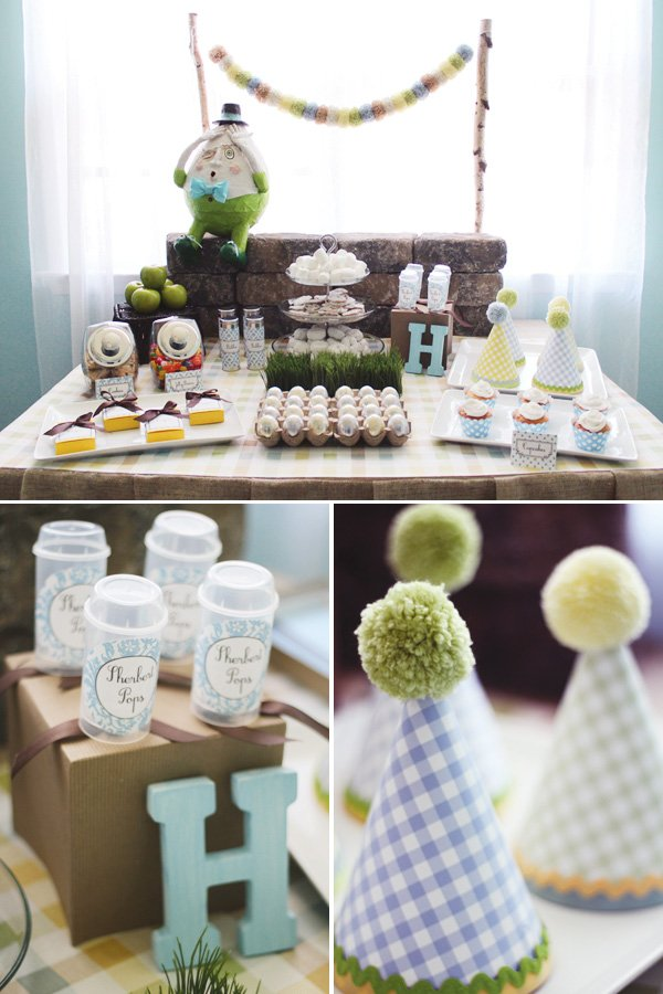 modern humpty dumpty dessert table