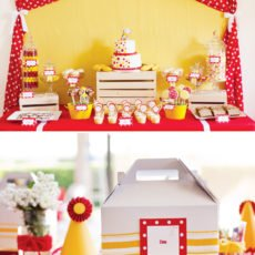 yellow and red monkey inspired birthday