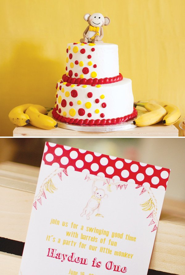 monkey birthday cake