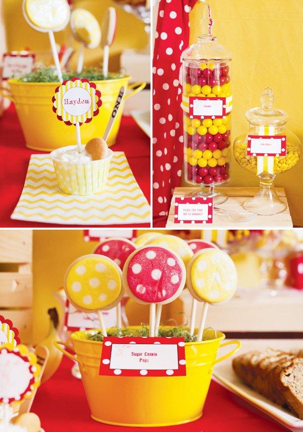 monkey birthday party dessert table