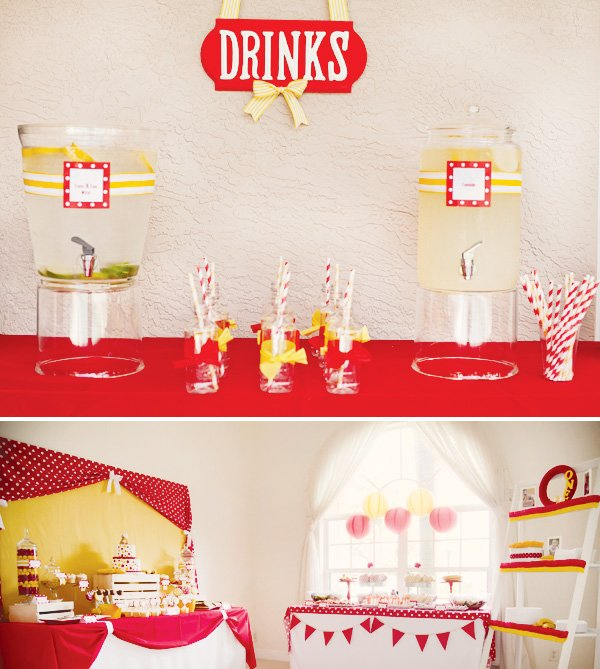 red and yellow birthday party