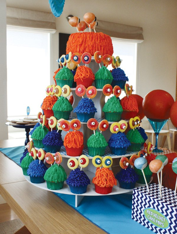monster cupcake tower