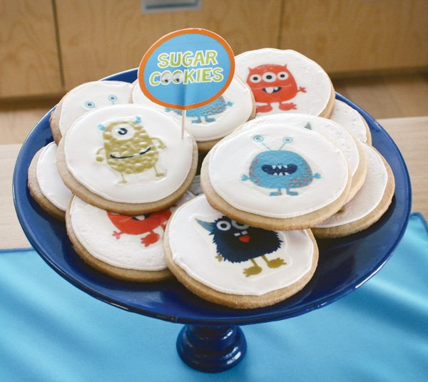 monster party sugar cookies
