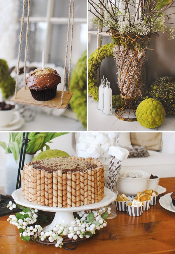 Mossy Garden Themed Party (First Birthday) // Hostess with ...
