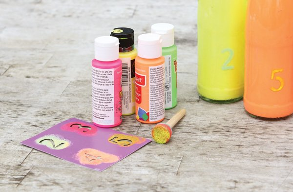 neon table number tutorial supplies