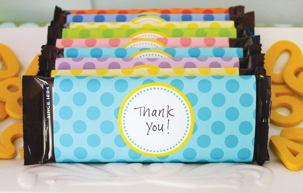 polka dot candy wrapper printables