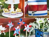 patriotic july 4th pinwheel topperes