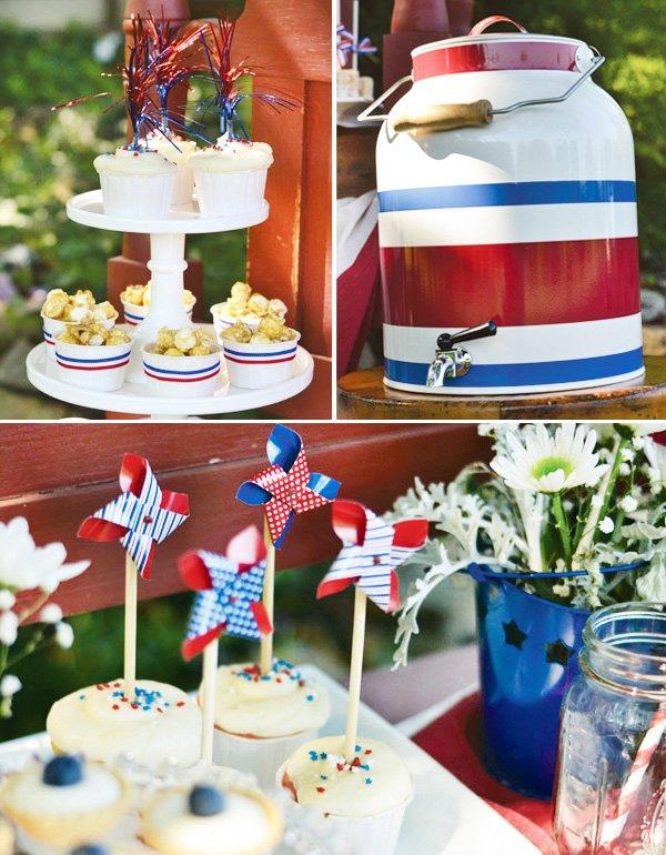 patriotic july 4th pinwheel topperes
